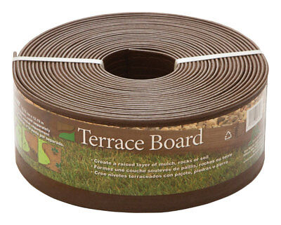 Master Mark Terrace Board 4 in. H x 40 ft. L Brown Plastic Lawn Edging