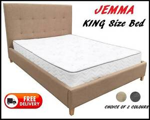 BRAND NEW King Size Upholstered Bed Frame - DELIVERED FREE New Farm Brisbane North East Preview