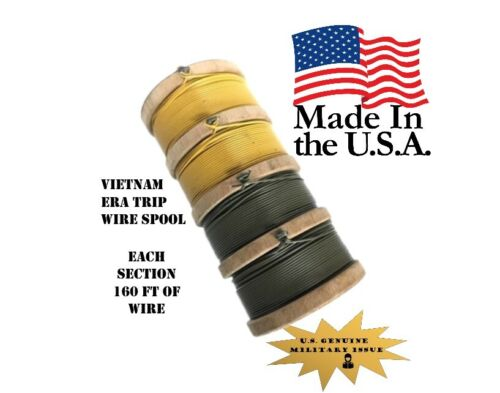 USGI Military Trip WireYellow + OD Green ~150ft. Vietnam Era - New Old stock