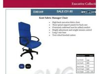 Executive Office Computer Desks Chair Mesh Seats Highs Back FABRIC Adjustable Open in Lockdown