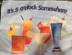 It's 5 O'clock Somewhere 12 X 18 Double Sided Flag Tailgate decor NEW Boat R/V