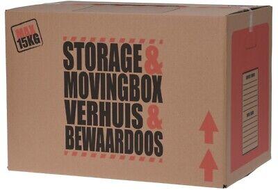20 X Fuerte Cartón Almacenaje Cajas Grande Movimiento Cajas Doble Pared