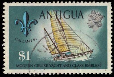 "ANTIGUA 255a (SG332) - Yacht ""Sol Quest"" - 1972 Printing (pa95141)"