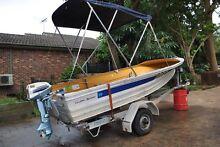 4.2 Quintrex Aluminium Boat with Evinrude 6HP Engine Sylvania Sutherland Area Preview
