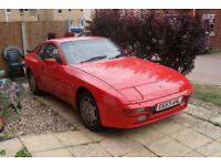 1988 PORSCHE 944 2.5 LUX needs welding for MOT, guards red, rare car