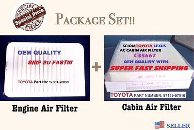 EngineCabin Air Filter For 07 17 CAMRY AND VENZA 4 Cylinder Fast Ship