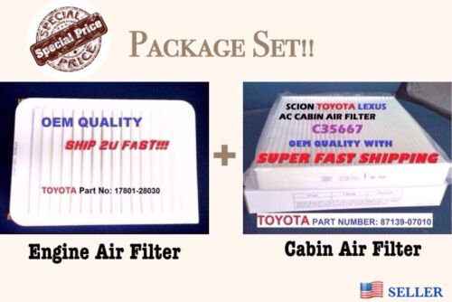 Engine&Cabin Air Filter For 07-17 CAMRY AND VENZA 4 Cylinder Fast Ship!