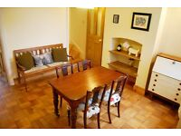 Dining room table - also perfect for kitchen. Vintage, antique, mahogany.