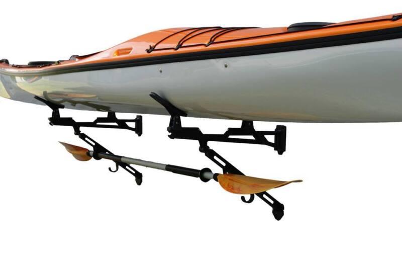 Set of 2 Kayak , Wave Ski , Raceboard SUP Rack It Up Kayak Wall Black Rack NEW