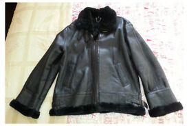 "Irvin Leather Aviator Flying Jacket US Style B-3 Large 40-42"" MINT"