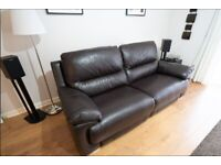 2 & 3 seater leather sofas with electric recline