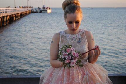 Designer wedding dress Albert Park Port Phillip Preview