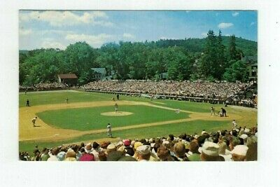 NY Cooperstown New York vintage post card Doubleday Baseball Field & Game Cooperstown Ny Baseball