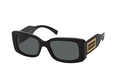 NWT Versace VE 4377 GB1/87 52mm Sunglasses BLACK / Grey Lens NIB