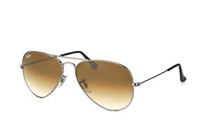 eccb40f50b Original Ray Ban Aviator Sunglasses RB 3025 004 51 Gunmetal   Brown Size 58