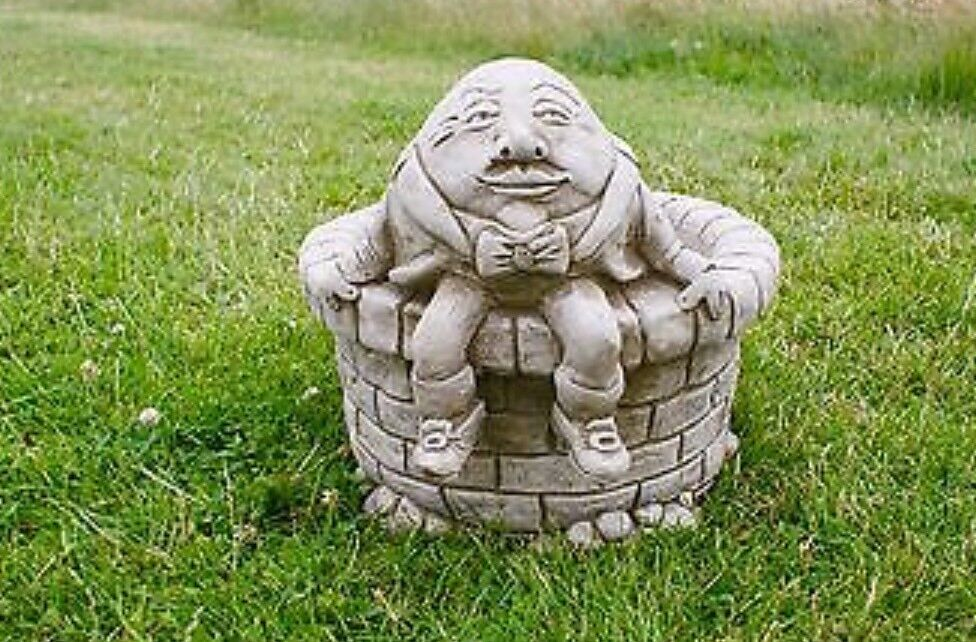 Beautiful Humpty Dumpty Heavy Stone Planter