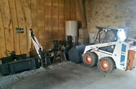 1989 bobcat and 5 attachments