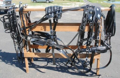 USA Made GRANITE Diamond team parade harness all sizes for 2 horses