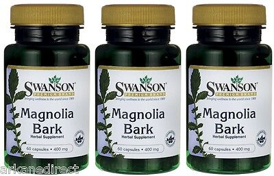 Magnolia Bark - MASSIVE 400mg x 180 Capsules - Magnolia Officinalis - SWANSON ()