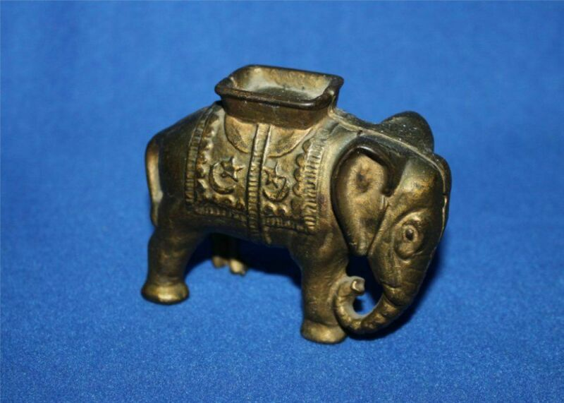 Antique A.C. Williams Cast Iron Penny Bank Elephant