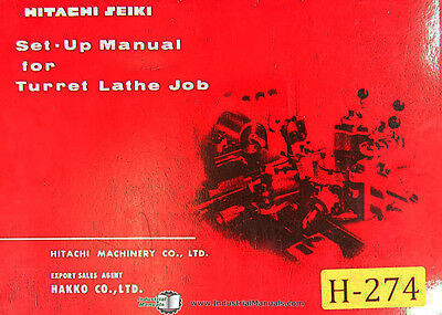 Hitachi Seiki Set Up For Turret Lathe Tool Setting Job Manual Year 1964
