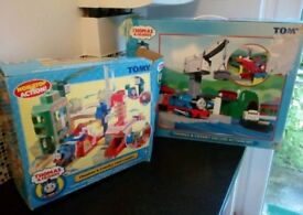 Thomas the Engine and friends Thomas and cranky coal loader. Thomas and cranky deluxe action set