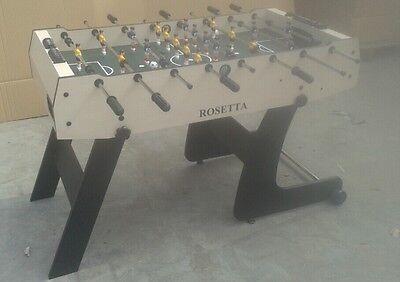 ROSETTA SUPERIOR 4' FOOTBALL TABLE SMART FOLDING STRONG FIRM SOCCER  FOOSBALL