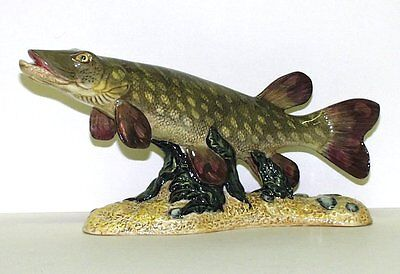 BESWICK  MADE IN ENGLAND - FISH FIGURAL - PIKE - NUMBERED LIMITED EDITION OF 50