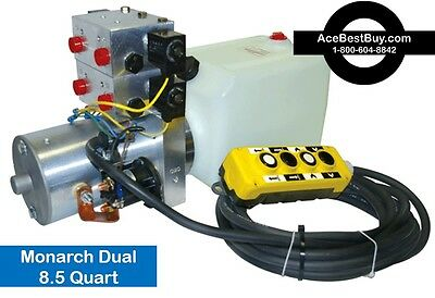 Monarch/Bucher 4 way hydraulic Pump pwr up/down remote with remote