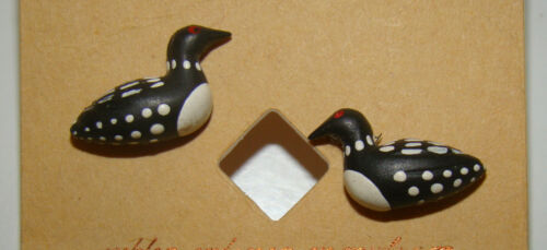 """Petite 1/2"""" LOON Pierced Earrings with Rubber Posts Studs"""