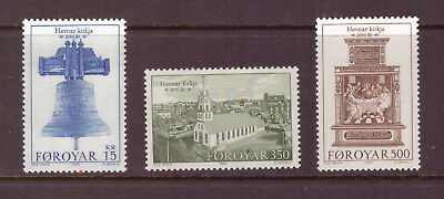 Faroe Islands MNH 1989 The 200th Anniversary of Tórshavn Church set mint stamps
