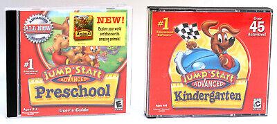 Lot Jump Start Educational PC Games Advanced Preschool Kindergarten First Grade! Jumpstart Kindergarten Educational Software