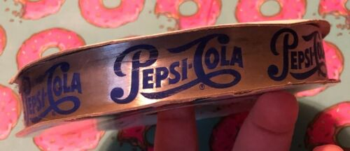 Vintage Pepsi Cola Advertising 100 Yard Soft & Satiny Reversible Ribbon Roll NEW