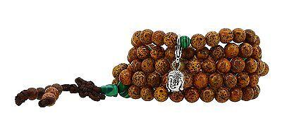 Unisex 108 Tibetan Bodhi Prayer Beads Daemonorops Seeds Mala Wrap Bracelet #LP