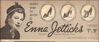 1948 vintage Shoe AD  ENNA JETTICKS Ladies walking shoes  (040215)