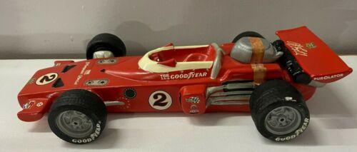 1972 AJ Foyt #2 Red Racing Car Decanter Indy Hoffman Distilling Bourbon Whiskey