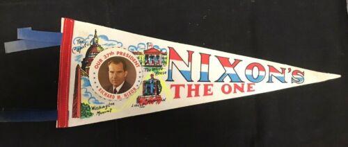"Richard Nixon The One 37th President Political Pennant 17"" JH822"