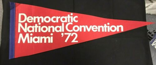 Democratic National Convention Miami 72 Political Pennant JH808