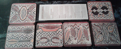 TABLE COASTERS By Aboriginal Artists Gallery (6) Decorated Coasters NEW!