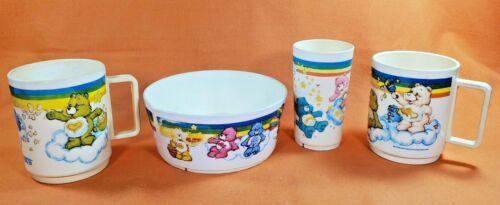 1983 Care Bears Plastic Bowl, Tumbler & Two (2) Mugs American Greetings