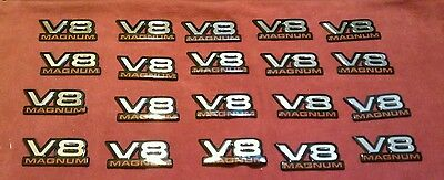 V8 MAGNUM EMBLEMS OEM DODGE RAM CHRYSLER