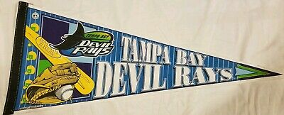 Vintage Tampa Bay Devil Rays Baseball Pennant 90s 1990s Wincraft MLB Made in USA ()