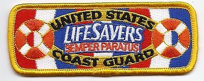 """United Staters Coast Guard (USCG) patch """"Lifesavers"""" 1-1/2 X 4 Inches"""