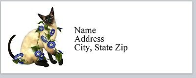 Personalized Address Labels Siamese Cat Buy 3 Get 1 Free Bx 343