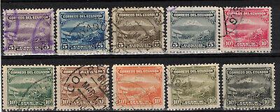 ECUADOR Scott 321//330 (No 329A) Used ## 1 cent start ##