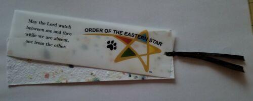 3 for $6 Order of Eastern Star Book Mark Mizpah Seeded Paper
