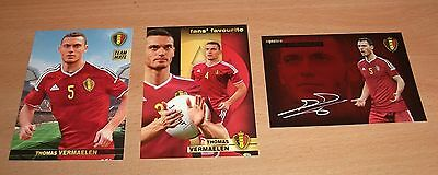 PANINI CARREFOUR LOT 19 124 170/180 - BELGIAN RED DEVILS TOUS ENSEMBLE VERMAELEN