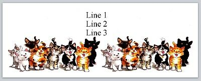 Personalized Address Labels Row Of Cute Cats Buy 3 Get 1 Free Bo 668