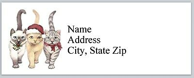 Personalized Address Labels Christmas Cats Buy 3 Get 1 Free Bx 787