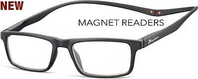 1 Lesebrille Magnet Lesehilfe in schwarz magnet reader 1,0 bis 3,5 Neu